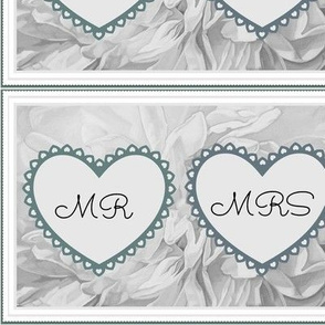 Mr & Mrs Wedding Hearts Bride
