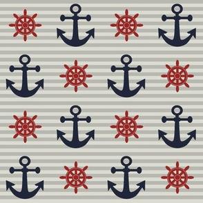 New England Nautical // Anchor & Wheel