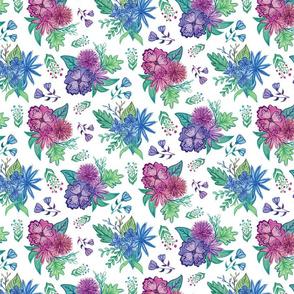 Blue & Purple Floral