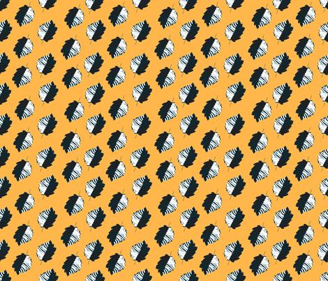 kalamkari-leaves-yellow-blue fabric by desiloopbyssk on Spoonflower - custom fabric