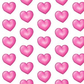 fat pink hearts