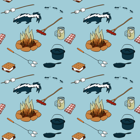 Summer Camp: Campfire fabric by 13sparrows on Spoonflower - custom fabric