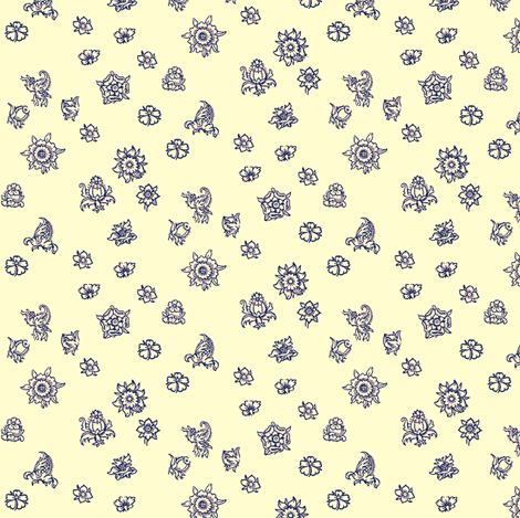 Fleurs Violettes fabric by amyvail on Spoonflower - custom fabric