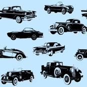 "Vintage Cars on Blue // Large (4"")"