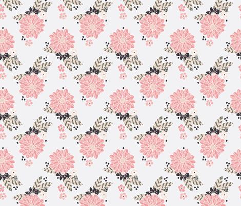 Stripe Floral fabric by valeri_nick on Spoonflower - custom fabric