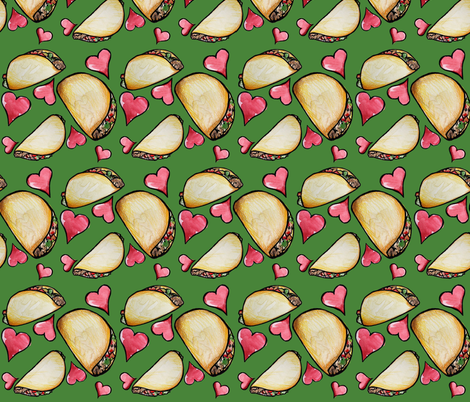 Taco Tuesday  fabric by bubbsnugg on Spoonflower - custom fabric