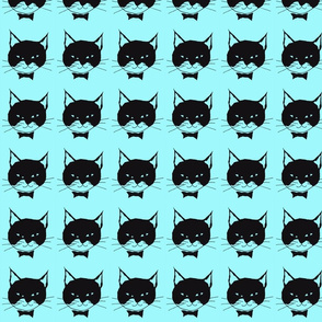 Black Cat on Aqua - Small