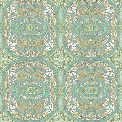 Foggy Green Whispers fabric by edsel2084 on Spoonflower - custom fabric