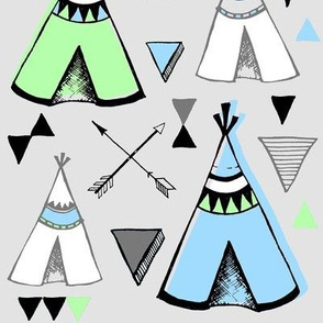 Teepee Town LARGE SEA