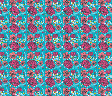 Happy Flowers fabric by emilycromwell on Spoonflower - custom fabric