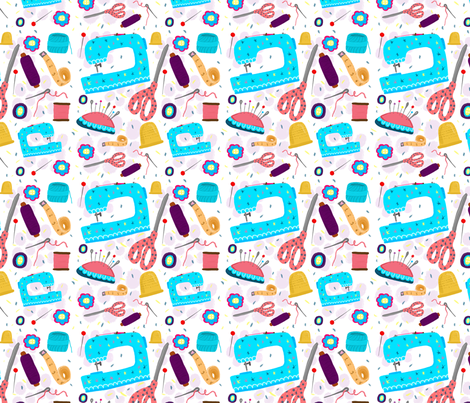Sewing Materials fabric by emilycromwell on Spoonflower - custom fabric