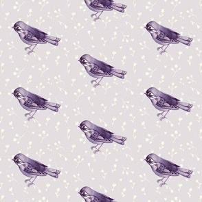 Faded Purple Songbird Mini Floral