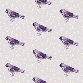 Faded Purple Songbird Mini Floral