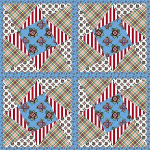 Ragdoll Twisted Star Cheater Quilt