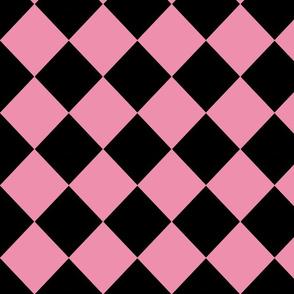 Diamonds- Pink and Black