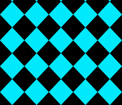 Diamonds- Turquoise and Black fabric by essieofwho on Spoonflower - custom fabric