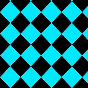 Diamonds- Turquoise and Black