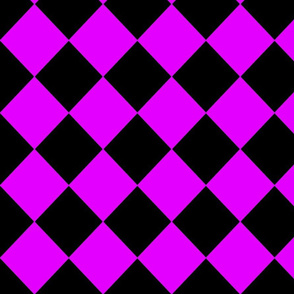 Diamonds- Purple and Black