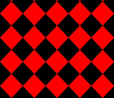 Diamonds- Red and Black fabric by essieofwho on Spoonflower - custom fabric