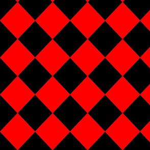 Diamonds- Red and Black