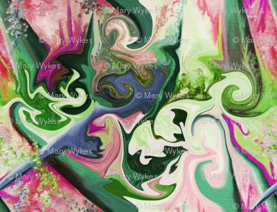 BNS4 - Lacy Illusions - pink, green and purple