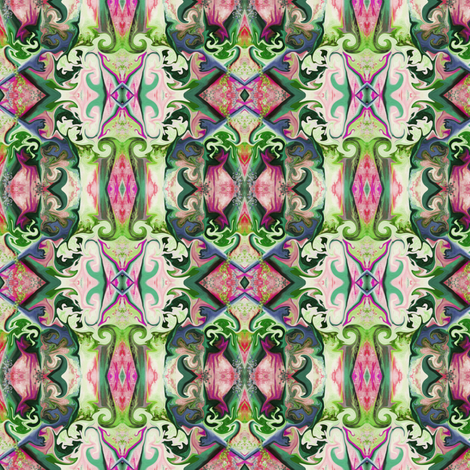 BNS4 - Lacy Illusions - pink, green and purple fabric by maryyx on Spoonflower - custom fabric