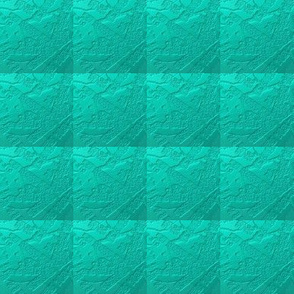 Turquoise in a Textured Quilted Repeat