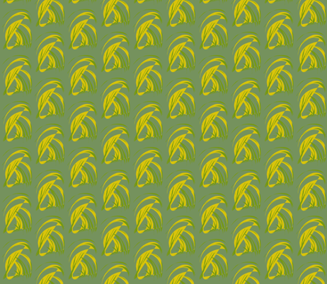 Tropical Leaves Turning Turtle on Aussie Bush Green fabric by rhondadesigns on Spoonflower - custom fabric