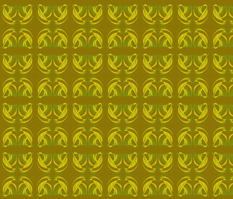 Turning Turtle with Tropical Leaves on Sweet Caramel - Small Scale fabric by rhondadesigns on Spoonflower - custom fabric
