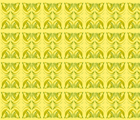 Turning Turtle With Tropical Leaves on Sunny Yellow fabric by rhondadesigns on Spoonflower - custom fabric