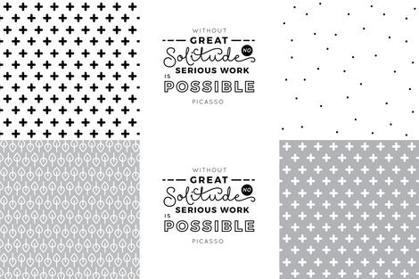Solitude - Pillow / Cushion Cut and Sew 54'' fabric by sonstnochwas on Spoonflower - custom fabric