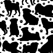 "Pugs n Paws - Large (3"")"