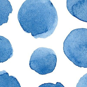 Azure polka dot