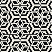 Geometric star seamless pattern