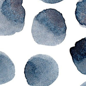 Prussian blue polka dot