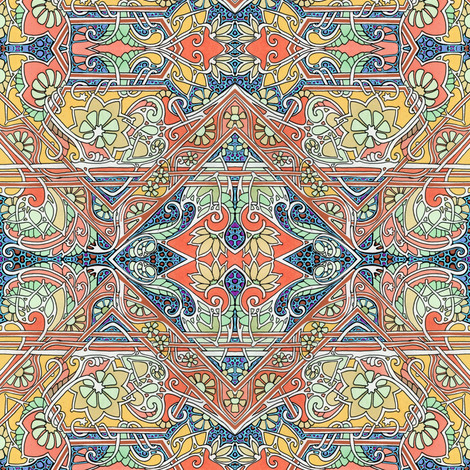 Time to Harvest the Paisley Crop fabric by edsel2084 on Spoonflower - custom fabric
