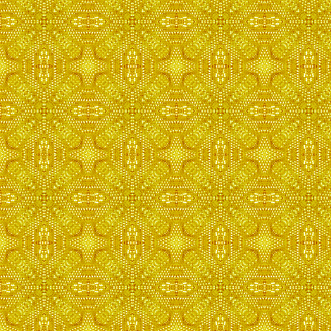 lemon yellow doily fabric by janbalaya on Spoonflower - custom fabric