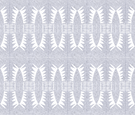 geometric_flower_linen_light fabric by holli_zollinger on Spoonflower - custom fabric