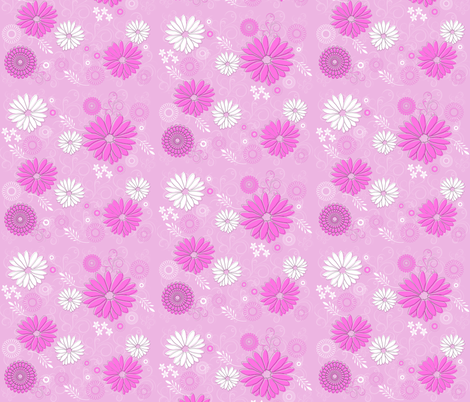 Springy Flowers fabric by gnarllymamadesigns on Spoonflower - custom fabric