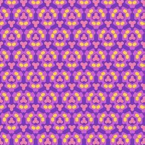 Geometric kaleidoscopic pink 150