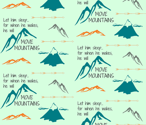 He will move mountains-ch fabric by ktulip1587 on Spoonflower - custom fabric