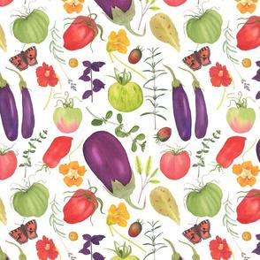 Watercolor Kitchen Garden