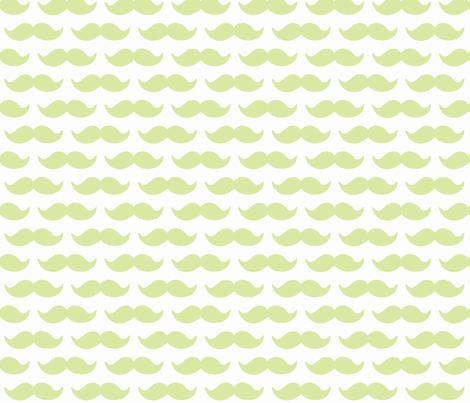 mustache-light green fabric by beansinabucket on Spoonflower - custom fabric