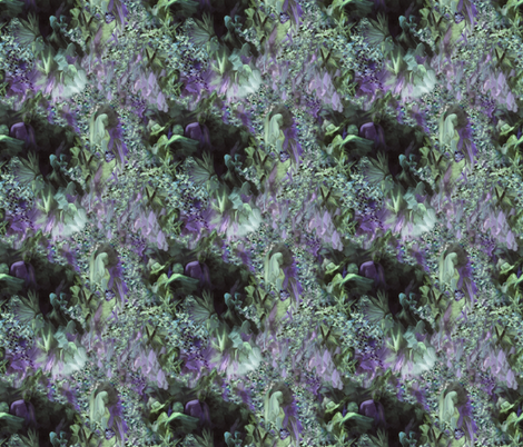 DRSC3  - Surreal Antebellum Landscape in Purple - Lavender - Teal green  - Small fabric by maryyx on Spoonflower - custom fabric