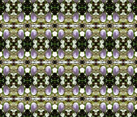 Crocus Bud fabric by katdermane on Spoonflower - custom fabric