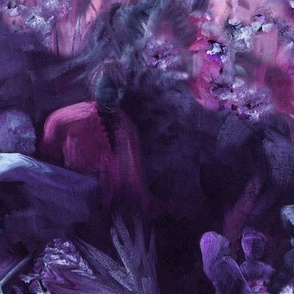 Dreamscape 2 - lavender, maroon and teal