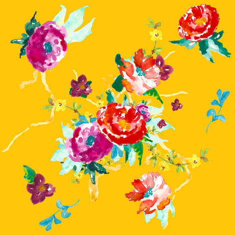 Tropical Paradise - Yellow fabric by shopcabin on Spoonflower - custom fabric