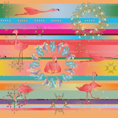 Flamingo Sunset Serape