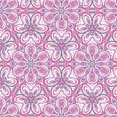 Pink Floating Soft Flowers fabric by eclectic_house on Spoonflower - custom fabric