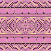 Pink, Gold, Gray Tribal Stripe